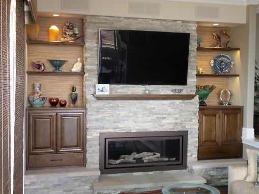 Custom Made Fireplace Bookshelves