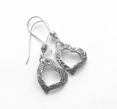 Custom Made Metal Clay- Sterling Silver- Messy Wrapped- Textured- Silver Metal Clay Earrings