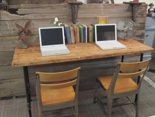 Custom Made Kids Reclaimed Wood Workstation