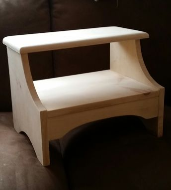 Custom Made Naked Pine Bedside Step Stool
