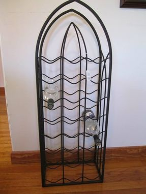 Custom Made Tall Floor Wine Rack