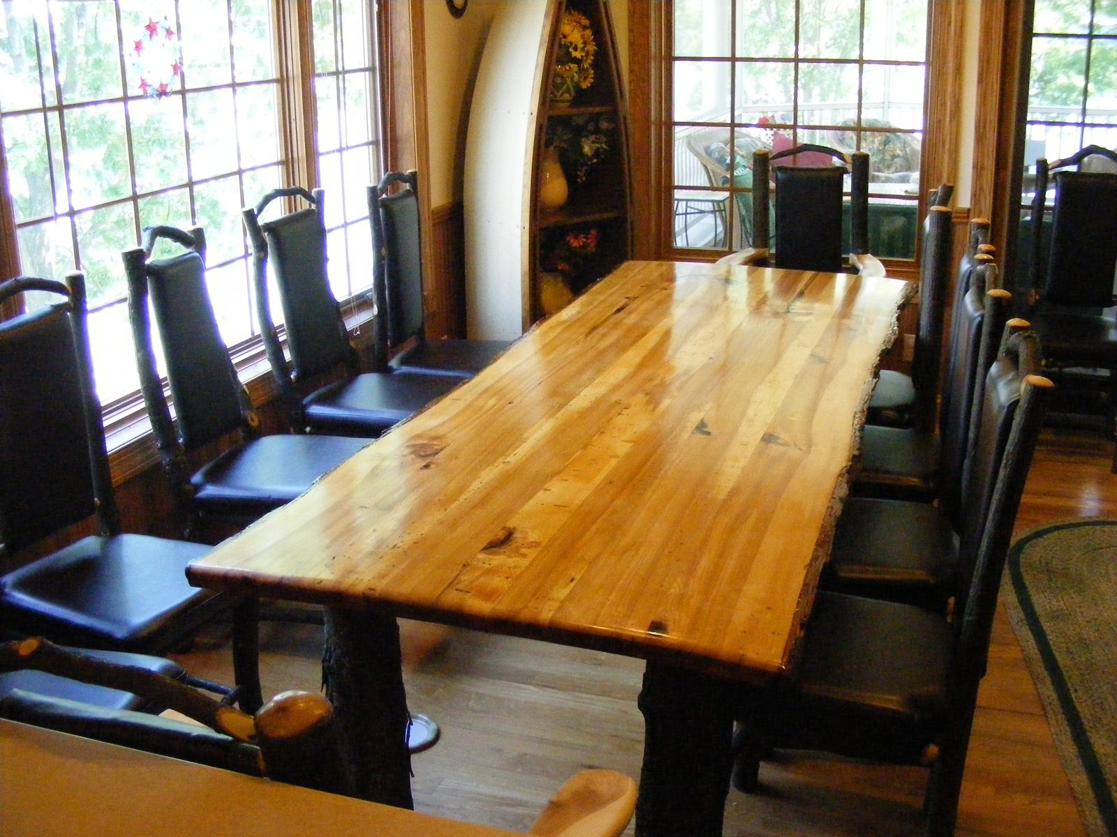 handmade rustic hickory table by opa 39 s custom woodworking llc. Black Bedroom Furniture Sets. Home Design Ideas