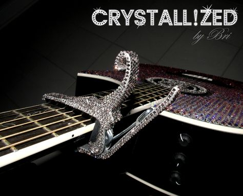 Custom Made Crystallized Guitar Quick Release Capo Made With Swarovski Crystals