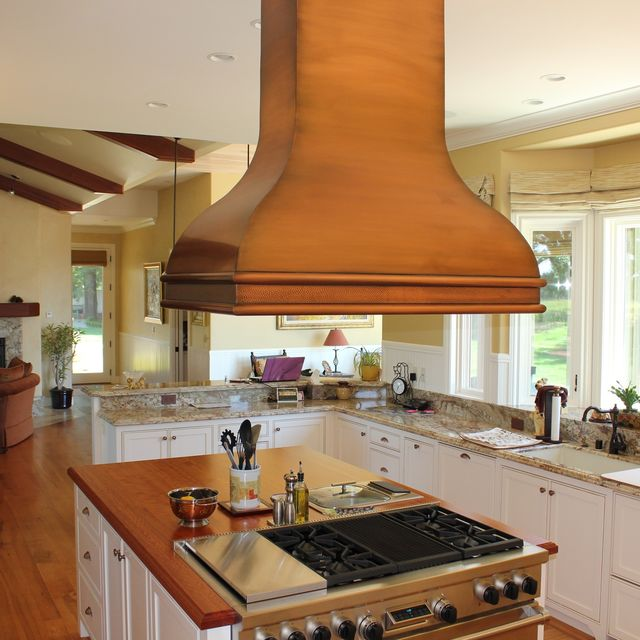 Hand Made Copper Range Hood by Mio Metals | CustomMade.com Copper Kitchen Hood Ideas on copper kitchen sinks, copper kitchen backsplashes, copper kitchen vents, copper kitchen accessories, copper kitchen counters, copper kitchen refrigerators,