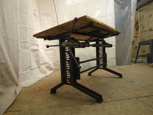Custom Industrial Drafting Desk By Camposironworks