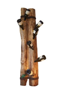 Custom Made Live Edge Wall Wine Rack From Reclaimed Wood