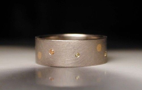Custom Made Women's Wedding Ring (The Polka Dot Ring)