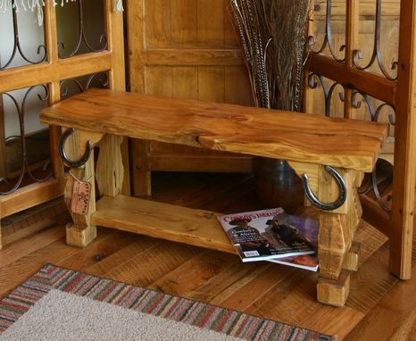 Custom Made Hand Carved Rustic Style Quot Butt Bench Quot By Moss Farm Designs Custommade Com