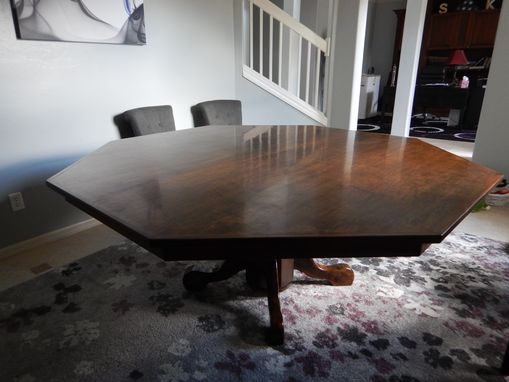 Custom Made Octagon, Maple, Dinning Table