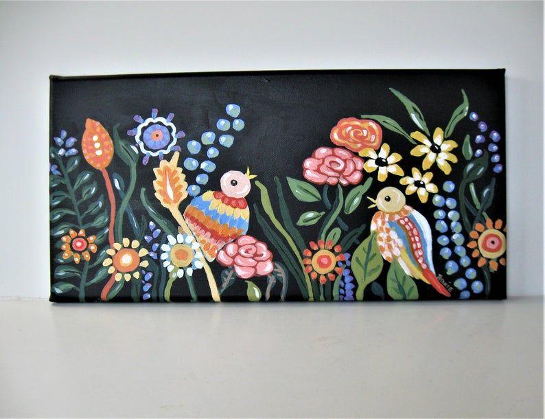 Original acrylic floral painting