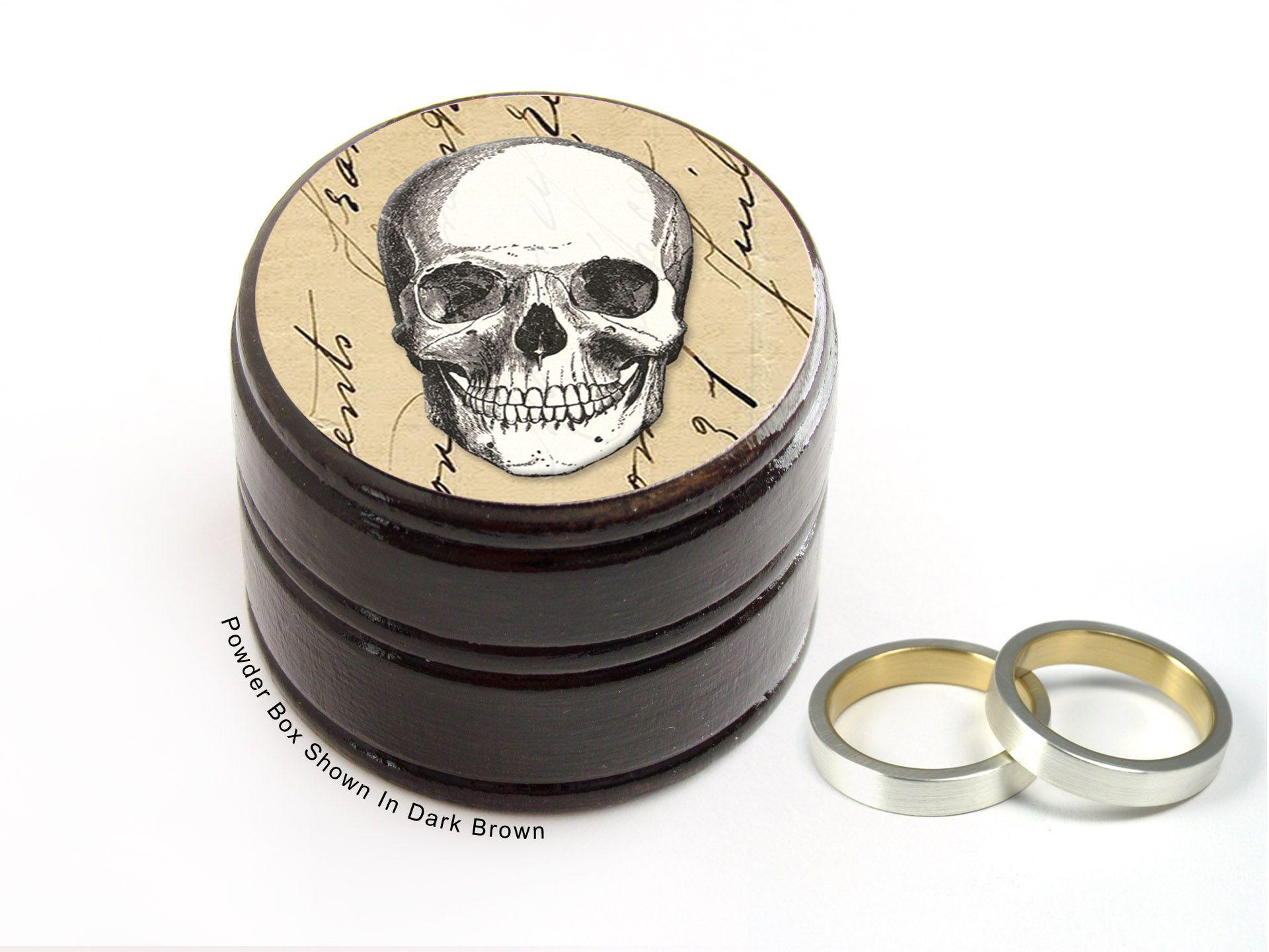 Buy a Handmade Skull Wedding Ring Box Skull Pill And Powder