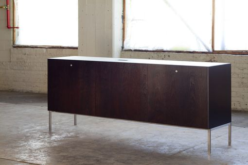 Custom Made Custom Credenza For A Condo Lobby