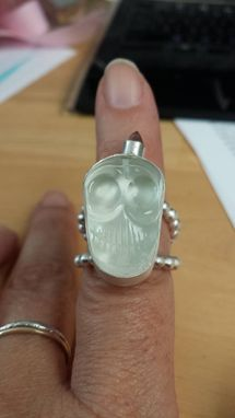 Custom Made Crystal Skull Ring