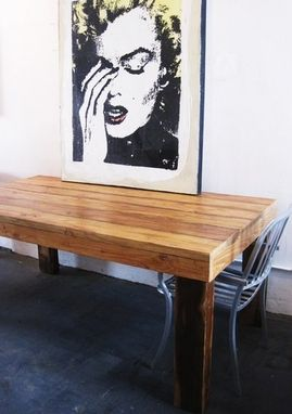Custom Made Reclaimed Wood Dining Tables. Made In La. Made To Order.