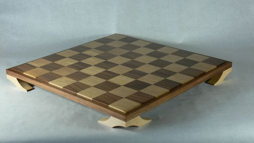 Custom Made Chess Board Elegant Black Walnut And Birch