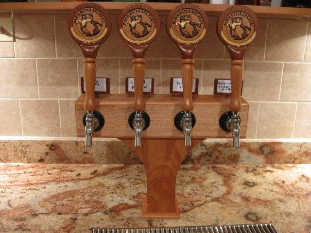 Hand Made Custom Intarsia Tap Handles And Tower By