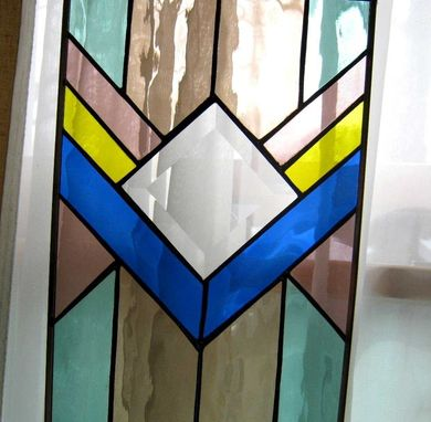Custom Made Southwest Art Stained Glass Window