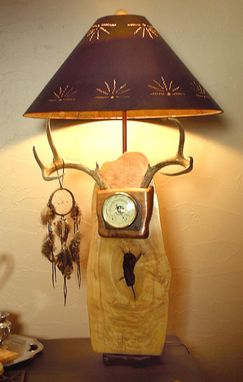 Custom Made Birds Eye Maple Lamp With Antlers