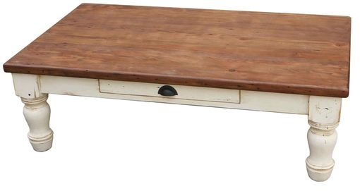 Custom Made Country Farm Turned Leg Coffee Table
