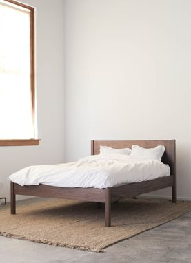Hand Made Solid Walnut Queen Bed Frame And Headboard By