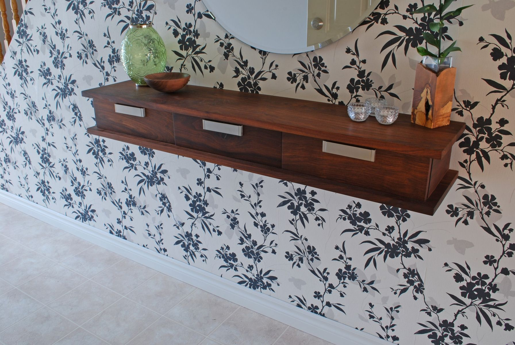 Custom shelves custommade walnut floating wall shelf amipublicfo Image collections