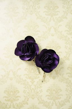 Custom Made Hair Pin With Hand-Sewn Petals