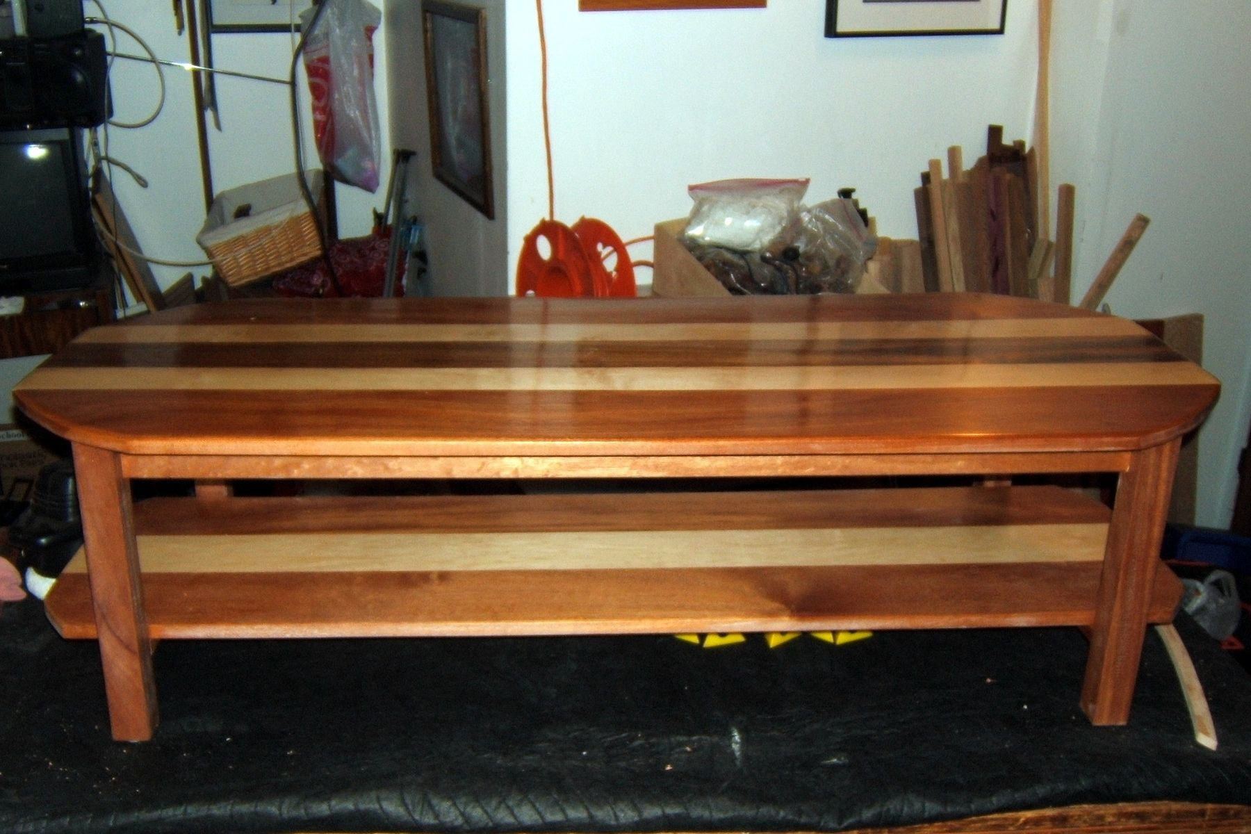 Hand Crafted Maple And Mahogany Coffee Table by Darbynwoods Fine