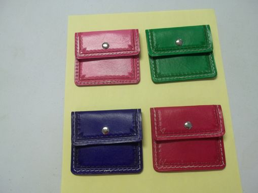 Custom Made Bcl299 Small Coin Pocket Wallets In Purple, Pink, Green Or Red