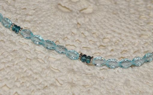 Custom Made Sky Blue And London Blue Topaz Necklace In Sterling Silver