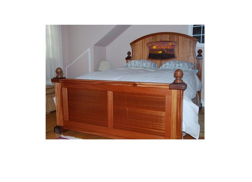 Custom Made Mahogany Bed