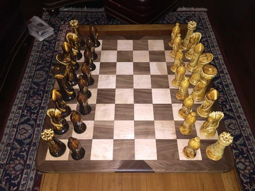 Custom Made Maple And Walnut Chess Board