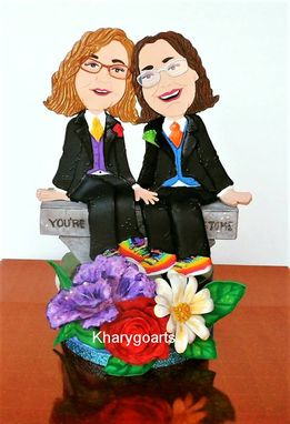 Custom Made Gay Wedding Look Alike Cake Topper Party Centerpiece