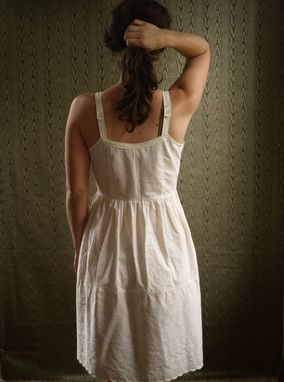 Hand Made Organic Cotton Underdress Slip Nightgown By