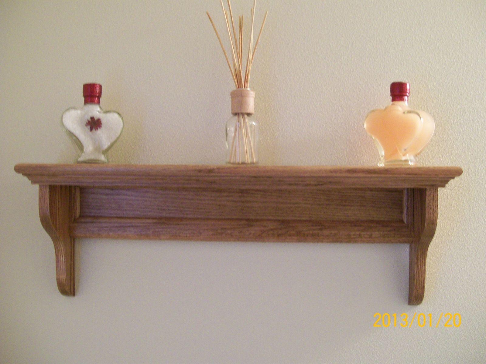 Custom made decorative bathroom shelf