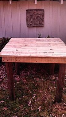 Custom Made Bar Height Pallet Table