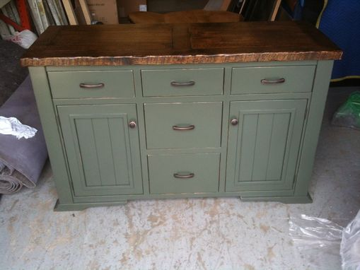 Custom Made Distressed, Painted Sideboard