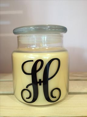 Custom Made Personalized Monogram Candle