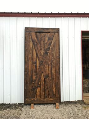 Custom Made Rustic X Sliding Barn Door