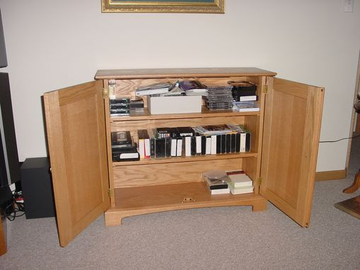 Custom Made Oak Media Center
