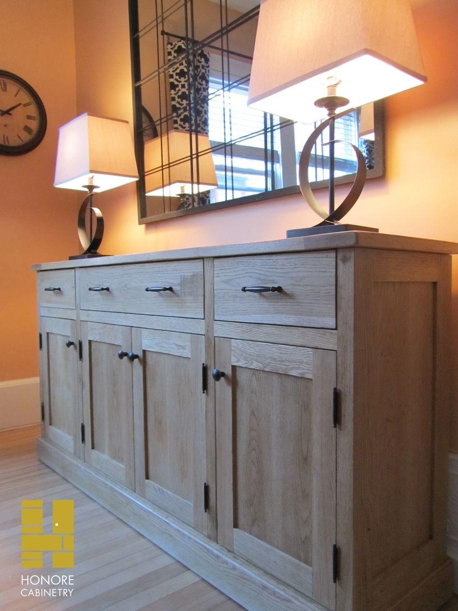 Custom Made Furnishings Distressed Oak Sideboard By Honore
