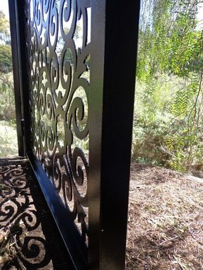 Custom Made Italian Metal Art Gate Pedestrian Walk Thru Entryiron Steel Garden