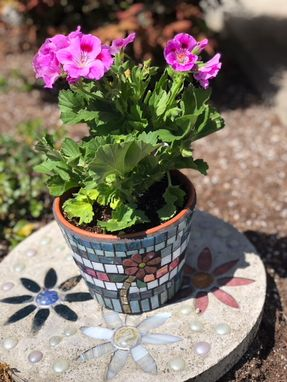 Custom Made Mosaic Flower Pot