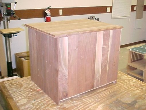 Custom Made Solid Walnut Cabinet