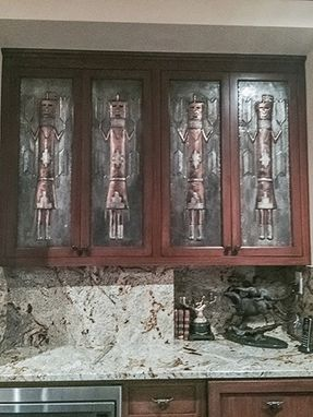 Custom Made Navajo Dancer Custom Cabinet Doors