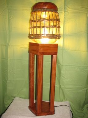 Custom Made Cherry Hurricane Lamp