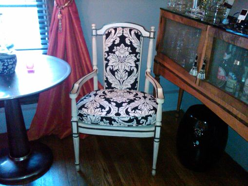 Custom Made Custom Chair Cushion And Upholstered Back