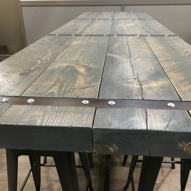 Custom Made 11' Rustic Industrial Community Table.