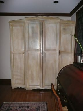 Custom Made Crackle Painted Armoire
