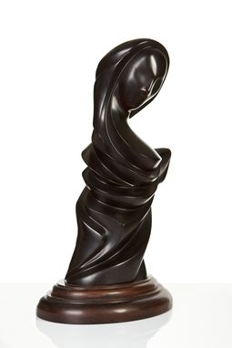 Custom Made Lady In Black Sculpture