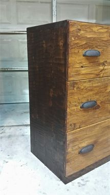 Custom Made Hand Hewn Pine Office Furniture